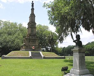 Confederate memorial in Forsyth Park in Savannah, Georgia.JPG