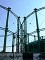 Conjoined Gas Holders on the north side of The Oval Cricket Ground - geograph.org.uk - 1587940.jpg
