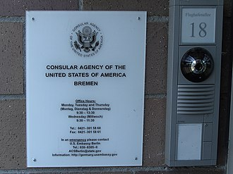 Consular Agency of the United States, Bremen - Image: Consular agency USA in Bremen