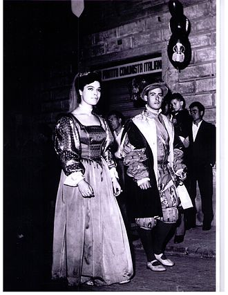 Gherardini family - Count Gian Raffaello Gherardini in 1966 during the parade of the Florentines' Calcio Storico (Historical Football). From the archives of the Calcio Storico.