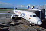 "Copa Airlines Colombia (Aero Republica) Embraer 190AR (ERJ-190-100IGW) HK-4456 ""Connect Miles.com"" titles (29478168294).jpg"