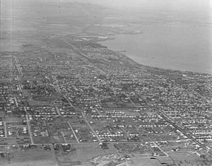 Corio Bay - Corio Bay, overlooking Geelong West, Drumcondra and North Geelong in 1927.