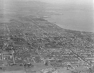 Corio Bay - Corio Bay, overlooking Geelong West, Drumcondra and North Geelong in 1927.