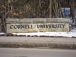 Cornell University West Campus Sign