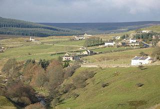 Lanehead village in United Kingdom