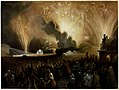 Coronation of Alexander II, Moscow, September 17, 1856- Fireworks Display before the Cadets' Building MET DR505.jpg
