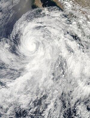 2013 Pacific hurricane season - Image: Cosme Jun 25 2013 2050Z