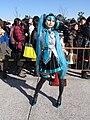 Cosplay of Hatsune Miku 20121228.jpg