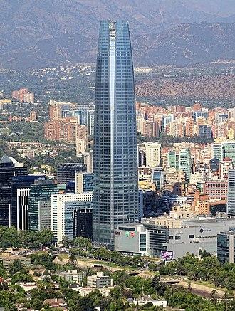 Gran Torre Santiago - Image: Costanera Center Torre 2016