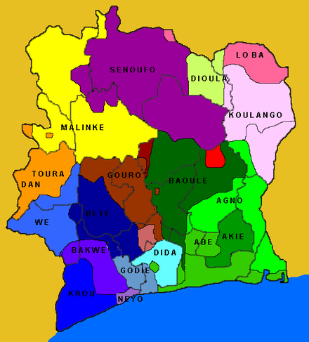 Ethnic groups of Ivory Coast Coted'Ivoire Ethnie.png