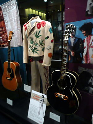 Nudie Cohn - Gram Parsons' legendary Nudie suit, on display at the Country Music Hall of Fame