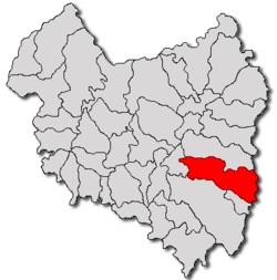 Location of Covasna