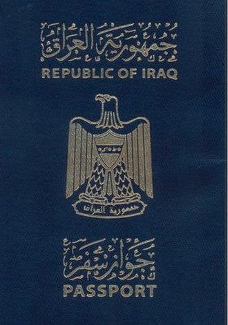 Iraqi passport - Cover of Iraqi Passport (1991-2003)