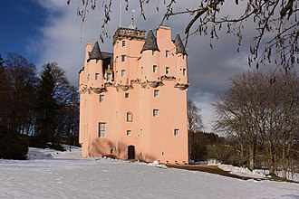 Craigievar Castle - The castle, with new harling, in 2010