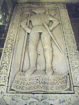 Frankopan family - Grave of Nikola Frankopan (c. 1352 – 1432), in Trsat.