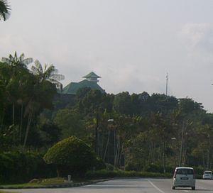 Istana Bukit Serene - Istana Bukit Serene seen from afar.