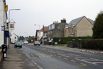Crossford, Fife - Crossford Main Street looking west on a cold morning in March 2006