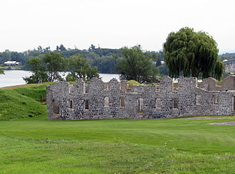 Crown Point, New York - Ruins of the barracks at Fort Crown Point