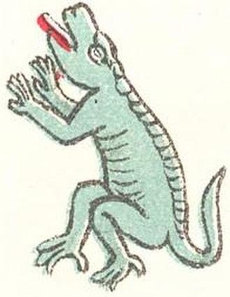 Aztec calendar - Image: Cuetzpalin
