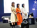 Cuisine Dimension voice actresses standing on the stage 20190414a.jpg