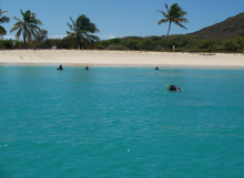 A Photo Taken Of Culebrita And People Snorkeling