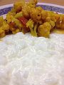 Curd Rice & Cauliflower Curry.JPG