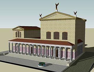 Curia Julia curia in the ancient city of Rome, converted in the basilica of SantAdriano in Roman Forum