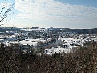 Dégelis City in Quebec, Canada