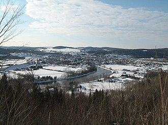 Madawaska River (Saint John River tributary) - Madawaska River in Degelis, Quebec, in winter