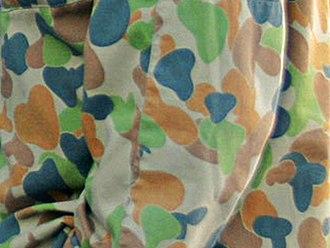 Disruptive Pattern Camouflage Uniform - Closeup of the pattern