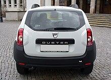 Dacia Duster Ambiance 1.6 16V 4x2 Artiksweiß Hinten.JPG