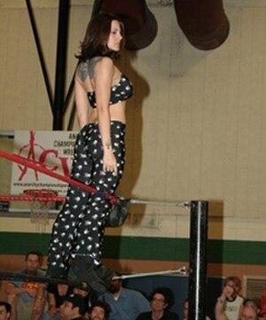Daffney - Daffney during an Anarchy Championship Wrestling event in March 2009