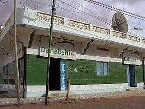Dahabshiil - A Dahabshiil franchise outlet in Puntland, Somalia.