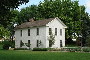 Yankton, South Dakota - A modern replica of the Dakota Territorial Capitol building stands in Yankton's Riverside Park.