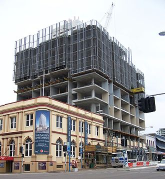 Townsville City, Queensland - Construction of a skyscraper in the middle of Townsville CBD in 2009