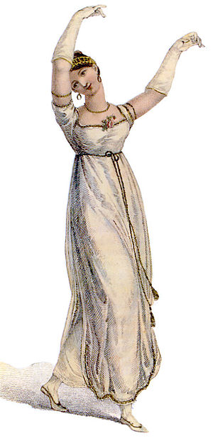Empire silhouette - Evening gown, from 1811