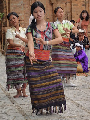 Dance of the Cham people.