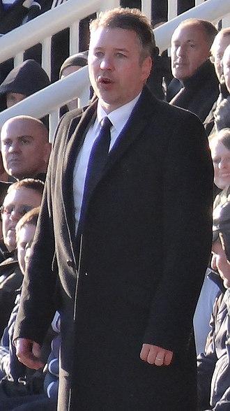 Darren Ferguson - Ferguson managing Peterborough United in 2013