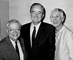 David Dubinsky, Hubert H. Humphrey, and Muriel Buck Humphrey, January 1, 1966.jpg