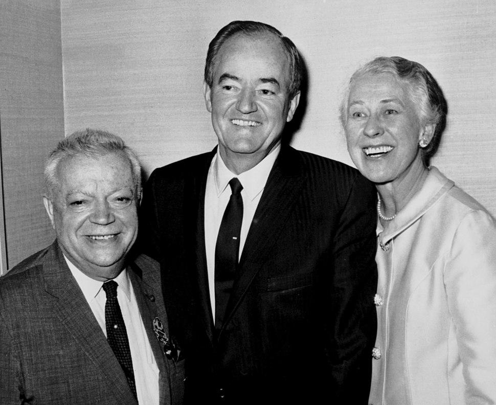 David Dubinsky, Hubert H. Humphrey, and Muriel Buck Humphrey, January 1, 1966