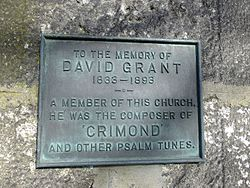 Photo of David Grant bronze plaque