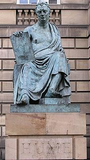 Statue of David Hume in Edinburgh, Scotland