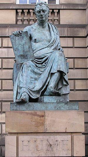 Statue of David Hume. Taken by Storkk in Edinb...
