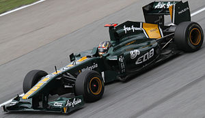 Davide Valsecchi - Valsecchi driving in 2011 with Team Lotus