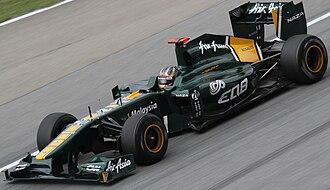Davide Valsecchi - Valsecchi driving in 2011 with Team Lotus