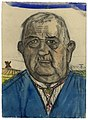 De Burgemeester, Felix Timmermans, 1931, aquarel, Letterenhuis (Antwerpen) - tg lhaq 4605.jpg