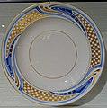 Deep plate by Henry van de Velde, Meissen factory, 1903, porcelain with blue underglaze and gold decoration - Hessisches Landesmuseum Darmstadt - Darmstadt, Germany - DSC00722.jpg