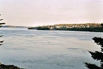 Deer Island (New Brunswick) - Image: Deer Island Point high tide