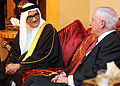 Defense.gov News Photo 110311-D-XH843-011 - Secretary of Defense Robert M. Gates meets with by Bahraini Minister of State for Defense Affairs Sheikh Mohammed Bin Abdulla Al Khalifa after his.jpg
