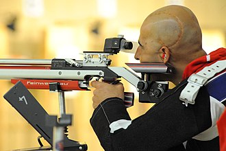Paralympic shooting - Image: Defense.gov photo essay 110517 M XXXXK 007